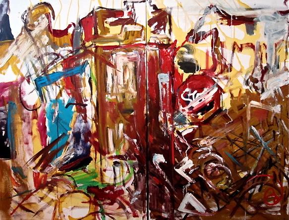 Alexandra - 36X48 diptych oil on canvas